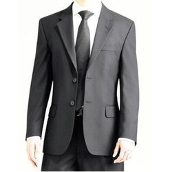 Men's Single Breasted Jacket Charcoal