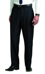 Men+39s Single Pleat Trousers Black