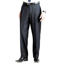 Men's Single Pleat Trousers Charcoal