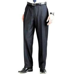 Men's Single Pleat Trousers Charcoal