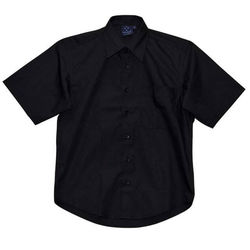 Men+39s Teflon Executive Short Sleeve Shirt Black