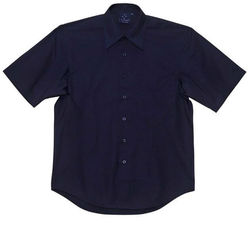 Men+39s Teflon Executive Short Sleeve Shirt Navy