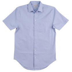 Menand39s CVC Oxford Short Sleeve Shirt Blue