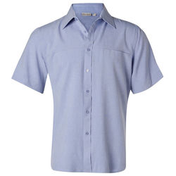 Menand39s CoolDry Short Sleeve Shirt Blue