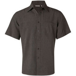 Menand39s CoolDry Short Sleeve Shirt Charcoal