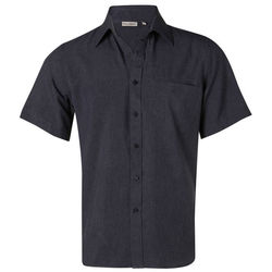 Menand39s CoolDry Short Sleeve Shirt Denim