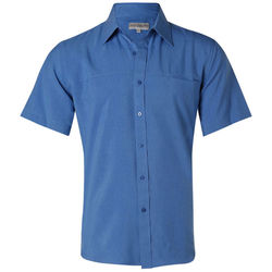 Menand39s CoolDry Short Sleeve Shirt Royal