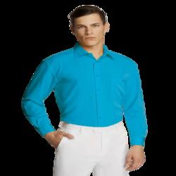Microfibre Business Shirt Aqua