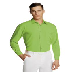 Microfibre Business Shirt Lime Green