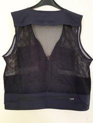 Multi Pocket Mesh Fishing Vest Navy