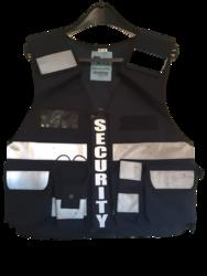 Multi Pocket Security Vest 3M Hi Vis Tape Navy