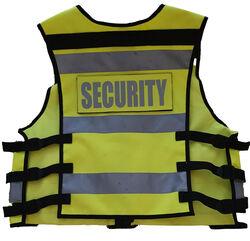 Multi Pocket Security Vest 3M Hi Vis Tape Yellow