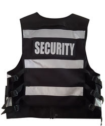 Multi Pocket Security Vest Black Hi Vis 3M