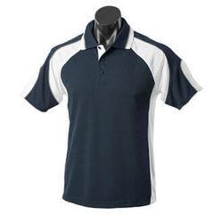 Murray Men's Polo Black/White/Ash