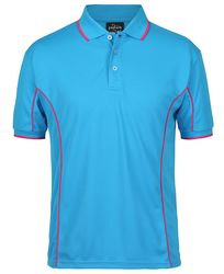 Piping Polo Aqua/Hot Pink