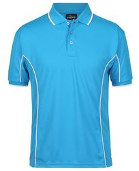 Piping Polo Aqua/White