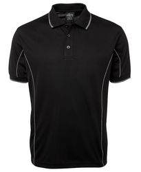 Piping Polo Black/Grey