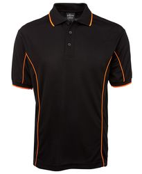 Piping Polo Black/Orange