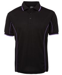 Piping Polo Black/Purple
