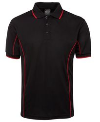 Piping Polo Black/Red