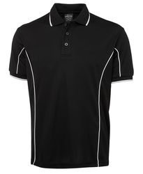 Piping Polo Black/White