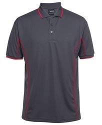 Piping Polo Charcoal/Red
