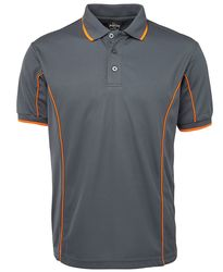 Piping Polo Grey/Orange