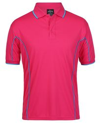 Piping Polo Hot Pink/Aqua