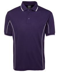 Piping Polo Purple/White