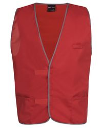 Plain Coloured Vest Red