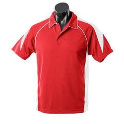 Premier Men's Polo Red/White