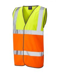 Reflective Coloured Hi Vis Vest Yellow/Orange