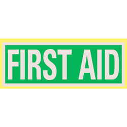 Reflective First Aid Title Added to Rear
