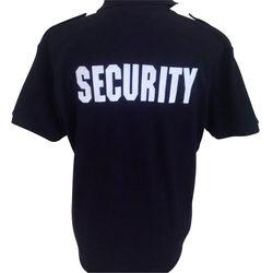 Security Polo Black Rear