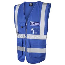 Coloured Hi Vis Superior Vest with Security  Reflective Badges