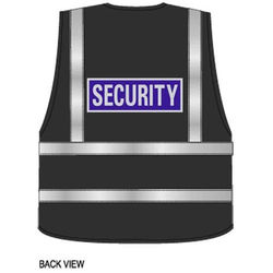 Security Reflective Badge on Hi Vis Superior Security Waistcoat