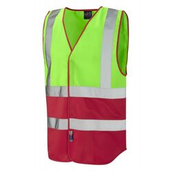 Superior Dual Coloured Reflective Vest Lime/Red