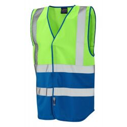 Superior Dual Coloured Reflective Vest Lime/Royal