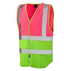 Superior Dual Coloured Reflective Vest Pink/Lime