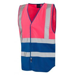 Superior Dual Coloured Reflective Vest Pink/Royal