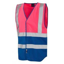Superior Dual Coloured Reflective Vest Pink/Royal