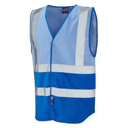 Superior Dual Coloured Reflective Vest Sky/Royal