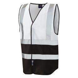Superior Dual Coloured Reflective Vest White/Black
