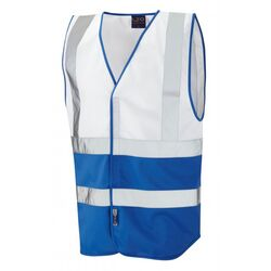 Superior Dual Coloured Reflective Vest White/Royal