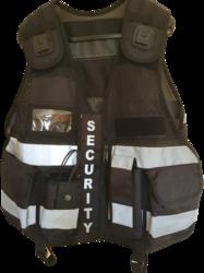 Multi Pocket Mesh Fabric Vest With Body Camera Attachment