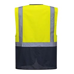 Warsaw Executive Vest Yellow/Navy