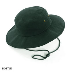 Wide Brim Hat heavy brushed cotton with metal eyelets Bottle
