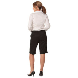Womenand39s PolyViscose Stretch Knee Length Flexi Waist Shorts