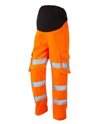 Womens Maternity Cargo Trouser Orange