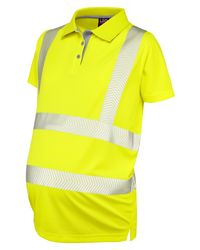 Womens Maternity Polo Shirt Yellow
